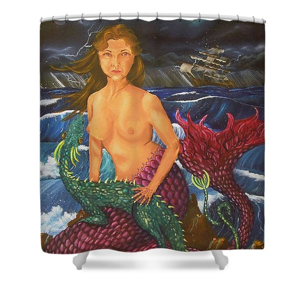 Storm And Peace Shower Curtain
