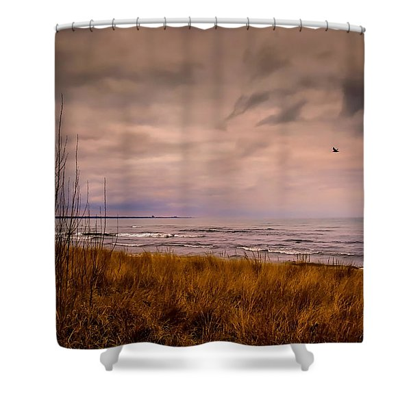 Storm Approaching At Dusk Shower Curtain