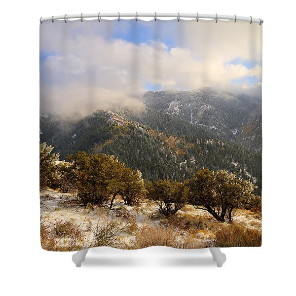 Storm Atop Oquirrhs Shower Curtain