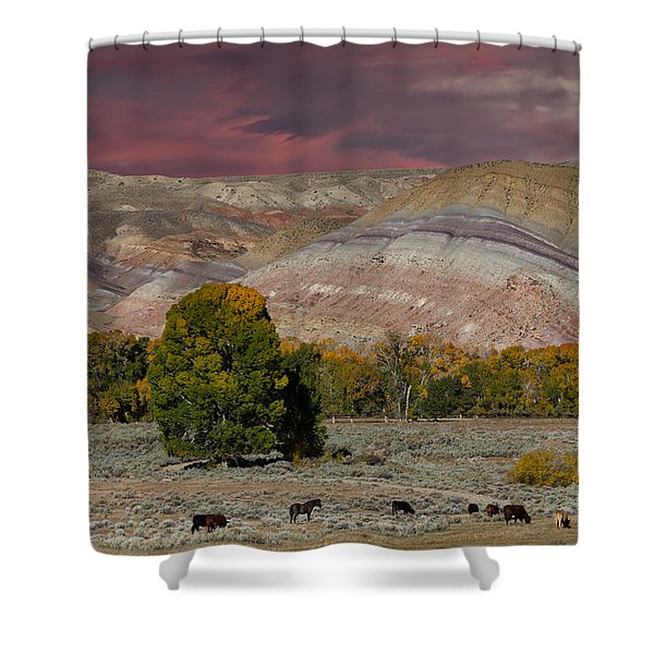 Storm Clouds Above The Wind River Basin Shower Curtain