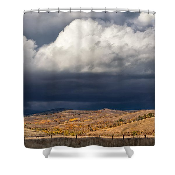 Storm Clouds Over Blacktail Butte Shower Curtain