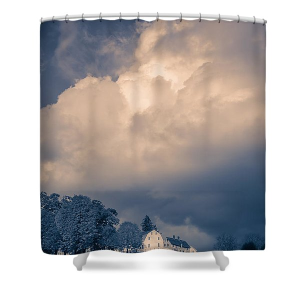 Storm Coming To The Old Farm Shower Curtain