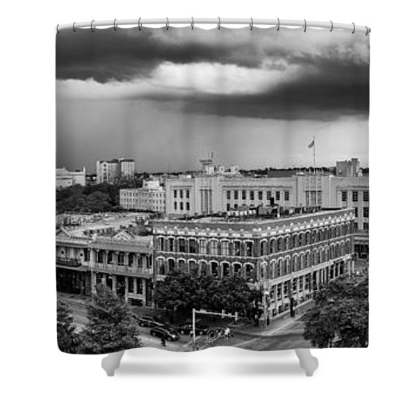 Storm Over San Antonio Texas Skyline Shower Curtain