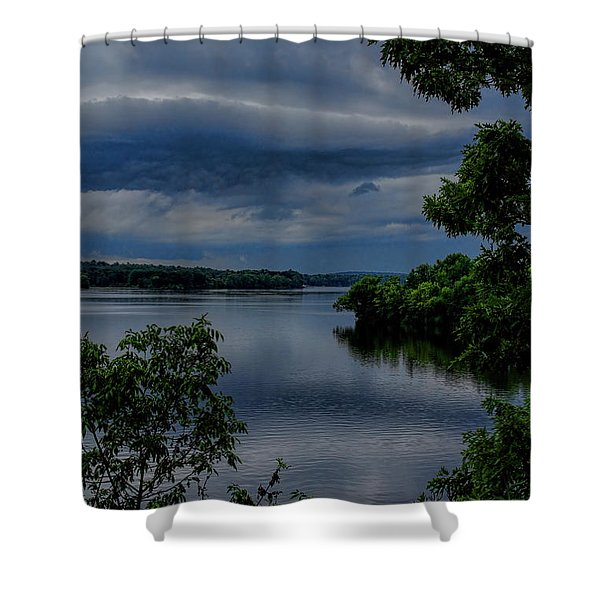 Storm Rolling Over Lake Wausau Shower Curtain