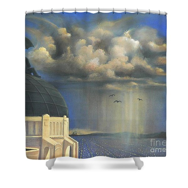 Storm Watch At Griffith's Shower Curtain
