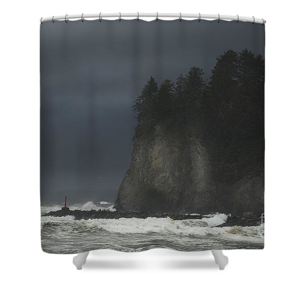Storm At Lapush Washington State Shower Curtain
