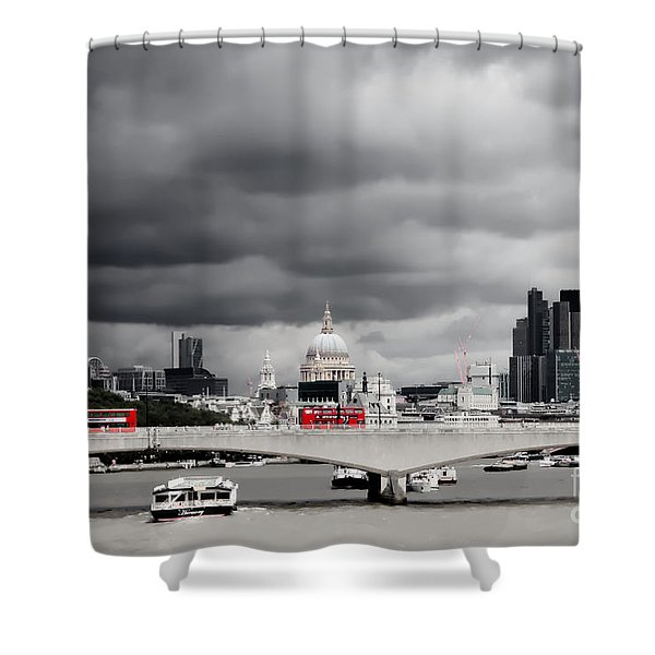 Stormy Skies Over London Shower Curtain