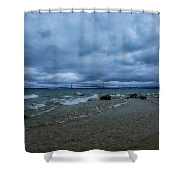 Stormy Straits Shower Curtain