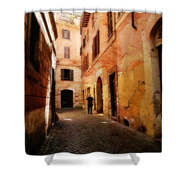Strade Di Ciottoli Shower Curtain