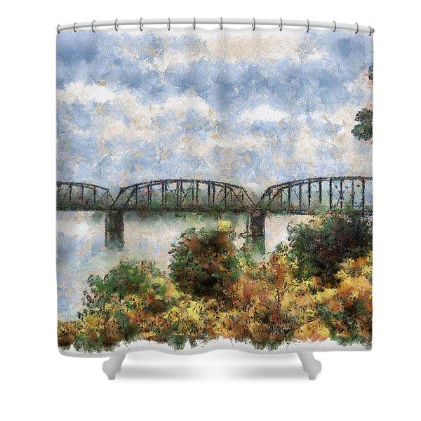 Strang Bridge Shower Curtain