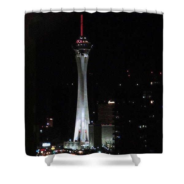 Stratosphere Tower Las Vegas Shower Curtain