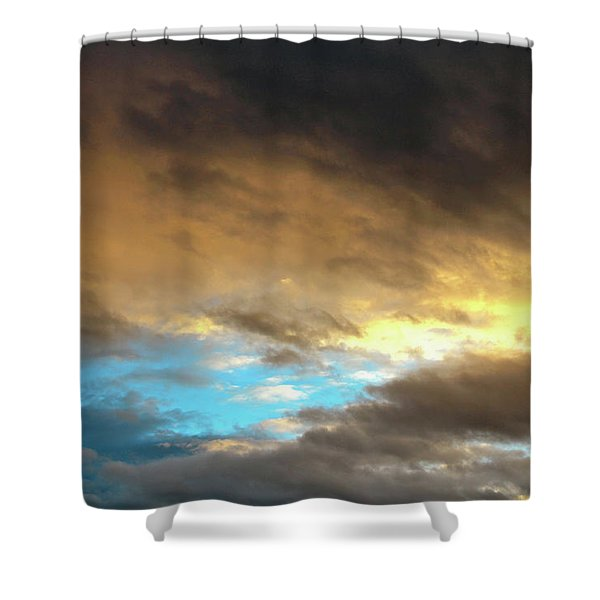Stratus Clouds At Sunset Bring Serenity Shower Curtain