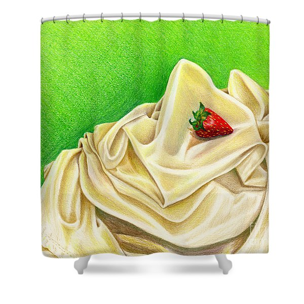 Strawberry Passion Shower Curtain