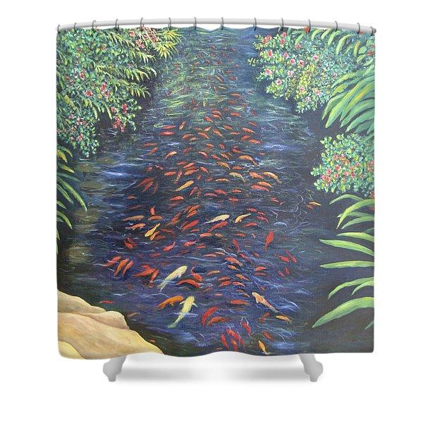 Stream Of Koi Shower Curtain