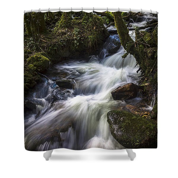 Stream On Eume River Galicia Spain Shower Curtain