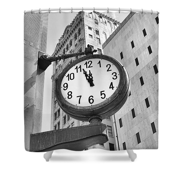 Street Clock Shower Curtain
