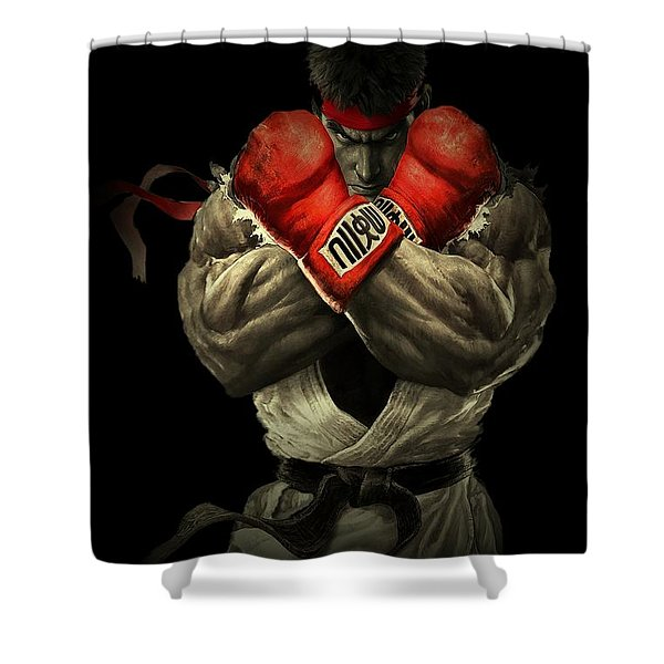 Street Fighter Shower Curtain