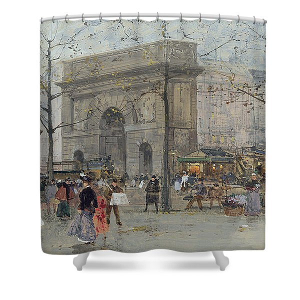 Street Scene In Paris Shower Curtain
