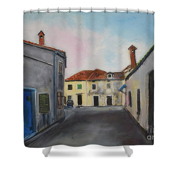 Street View From Kavran Shower Curtain
