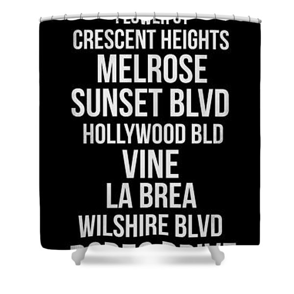 Streets Of Los Angeles 2 Shower Curtain