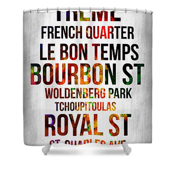 Streets Of New Orleans 1 Shower Curtain