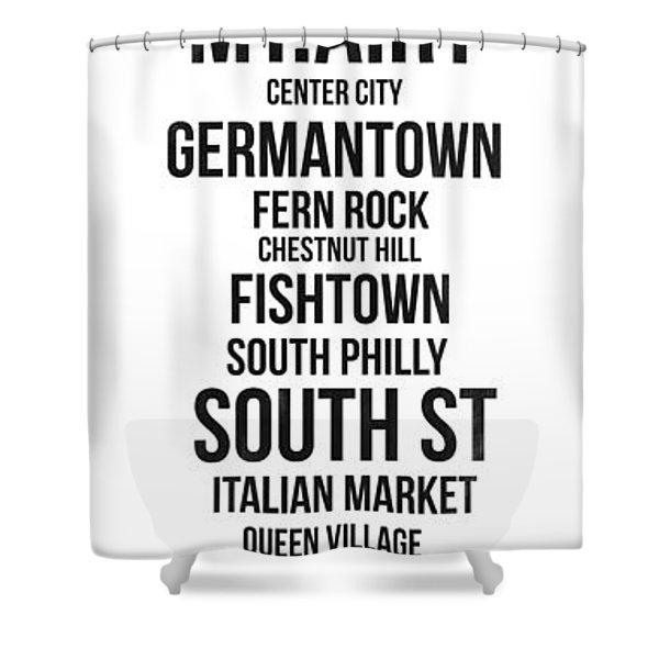 Streets Of Philadelphia 3 Shower Curtain