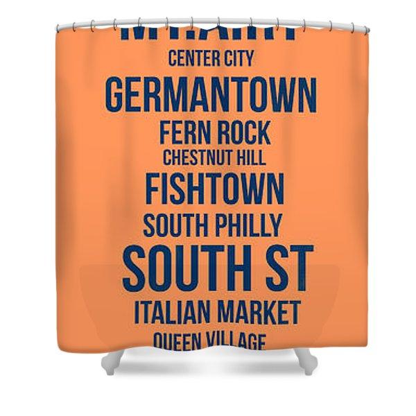 Streets Of Philadelphia 4 Shower Curtain
