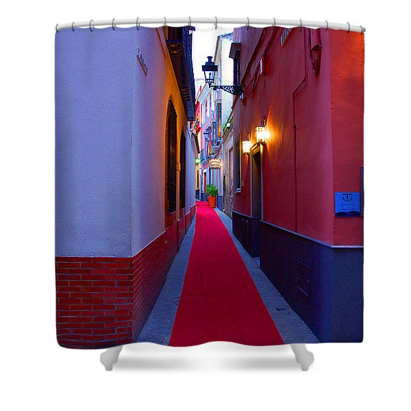 Streets Of Seville - Red Carpet  Shower Curtain