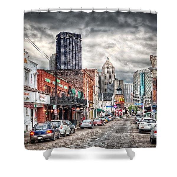 Strip District Pittsburgh Shower Curtain