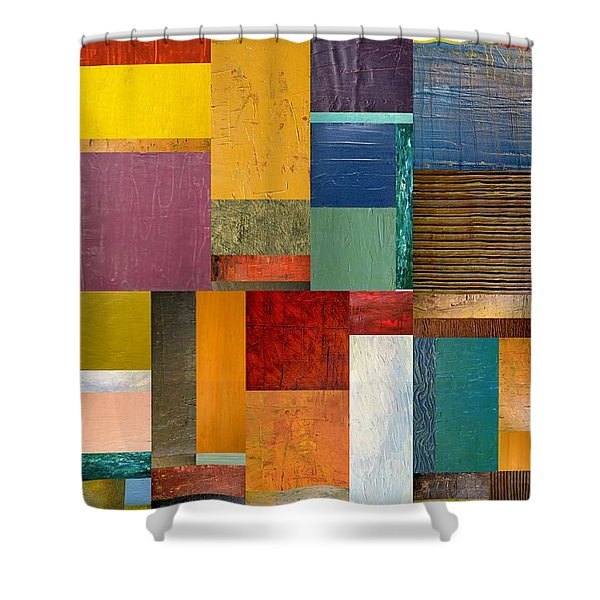Strips And Pieces Ll Shower Curtain