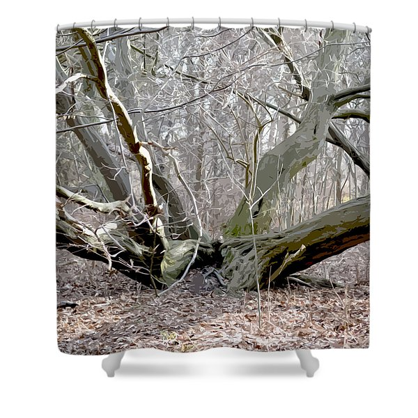 Struck By Lightning - Grafical Shower Curtain