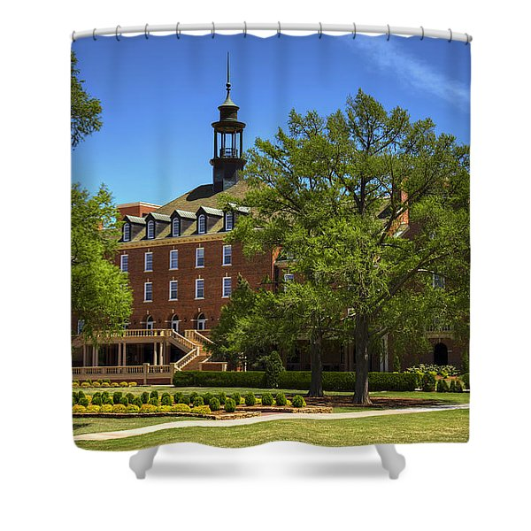 Student Union At Oklahoma State Shower Curtain