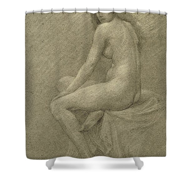 Study For Lilith Shower Curtain
