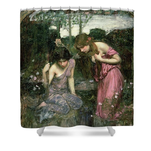 Study For Nymphs Finding The Head Of Orpheus, C.1900 Oil On Canvas Shower Curtain