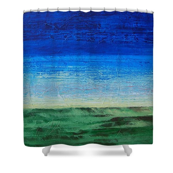 Study Of Earth And Sky Shower Curtain