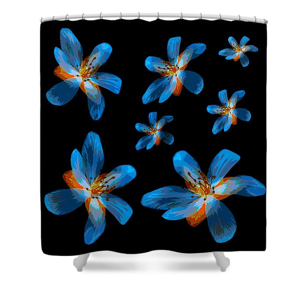 Study Of Seven Flowers #2 Shower Curtain