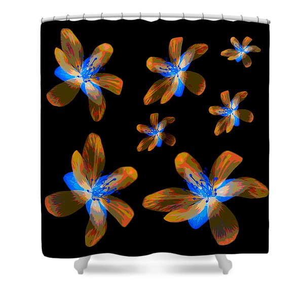 Study Of Seven Flowers #5 Shower Curtain