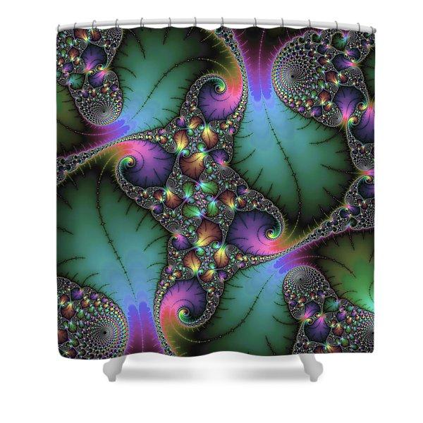Stunning Mandelbrot Fractal Shower Curtain