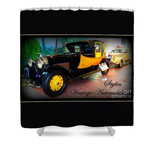 Stylin Vintage Automobile Shower Curtain