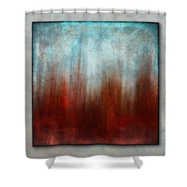Stylized Beach Grasses Shower Curtain