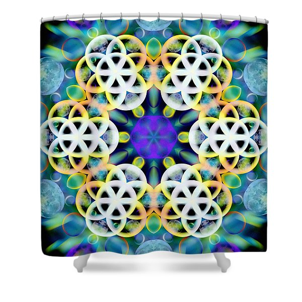 Subatomic Orbit Shower Curtain