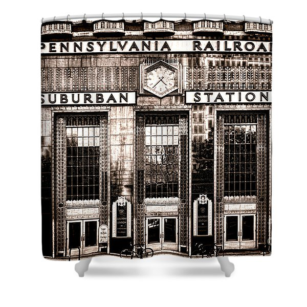 Suburban Station Shower Curtain