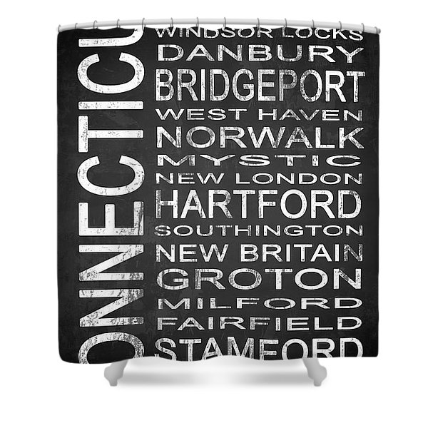 Subway Connecticut State 1 Shower Curtain