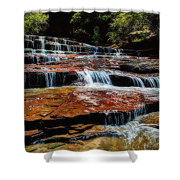 Subway Falls Shower Curtain