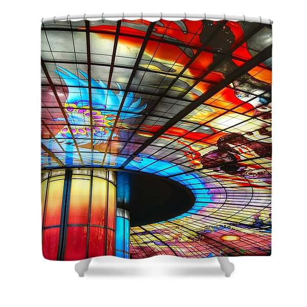 Subway Station Ceiling  Shower Curtain