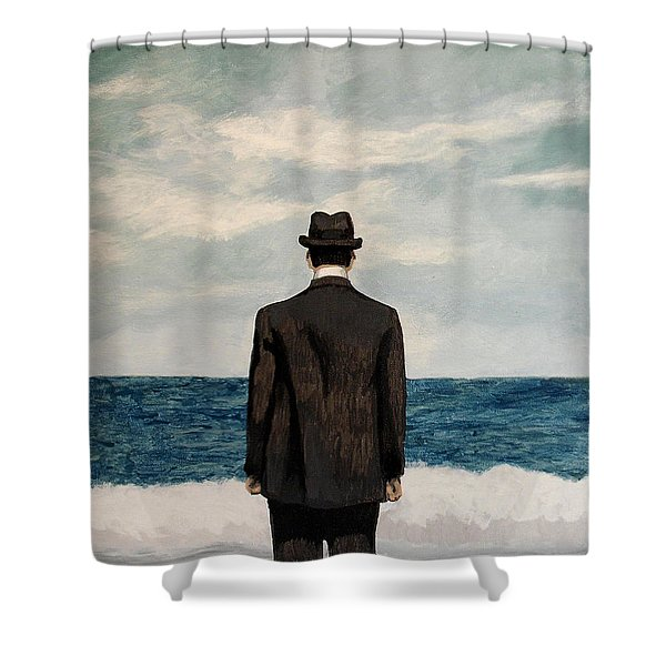 Suddenly Small Shower Curtain