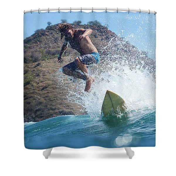 Sufer On The Wave Shower Curtain