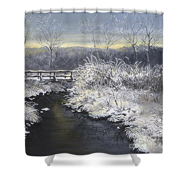 Sugared Sunrise Shower Curtain