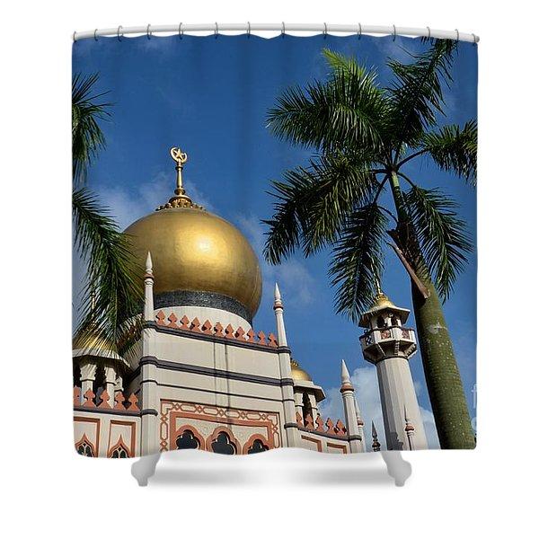 Sultan Masjid Mosque Singapore Shower Curtain