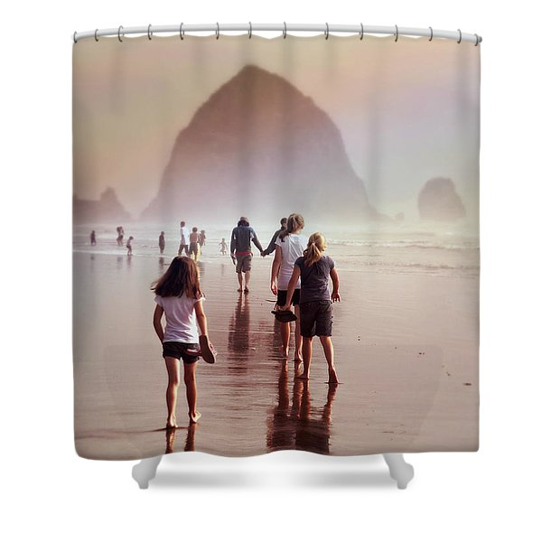 Summer At The Seashore  Shower Curtain